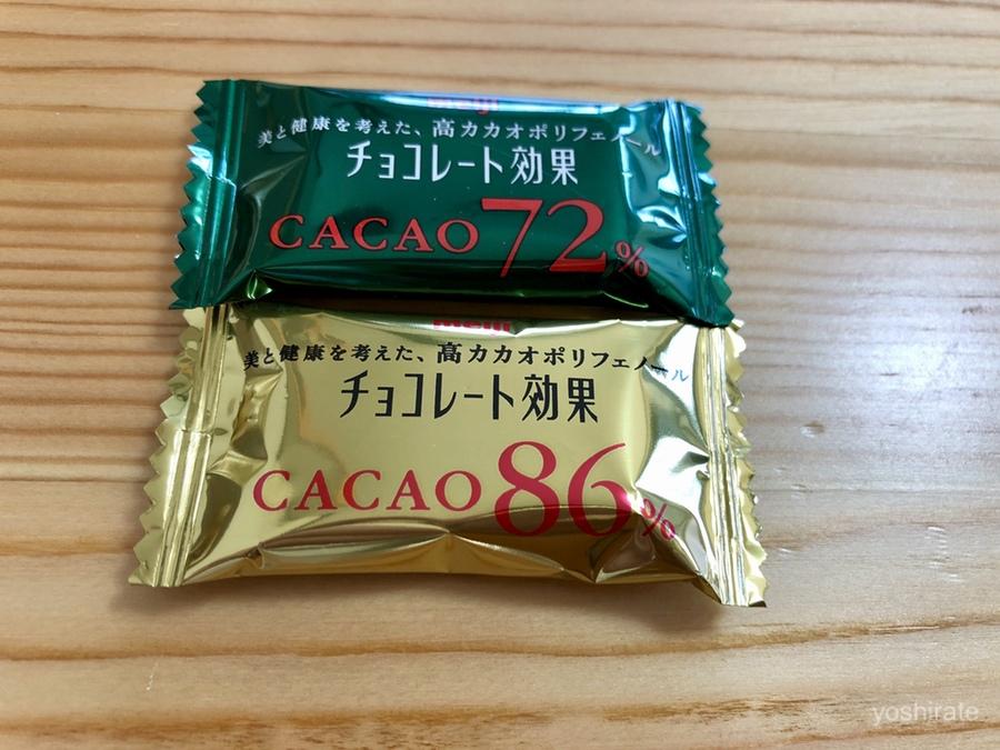 チョコレート効果カカオ72%と86%