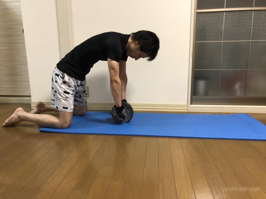 腹筋ローラーの呼吸法のやり方 膝コロのやり方